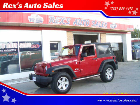 2009 Jeep Wrangler for sale at Rex's Auto Sales in Junction City KS