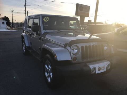 2013 Jeep Wrangler Unlimited for sale at Cars 4 Grab in Winchester VA