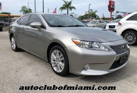 2015 Lexus ES 350 for sale at AUTO CLUB OF MIAMI, INC in Miami FL