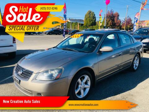 2005 Nissan Altima for sale at New Creation Auto Sales in Everett WA