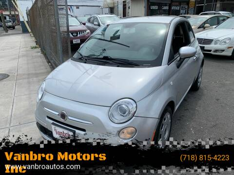 2012 FIAT 500 for sale at Vanbro Motors Inc in Staten Island NY