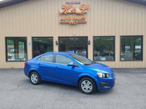 2016 Chevrolet Sonic for sale at K & L AUTO SALES, INC in Mill Hall PA