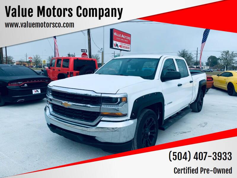 2017 Chevrolet Silverado 1500 for sale at Value Motors Company in Marrero LA