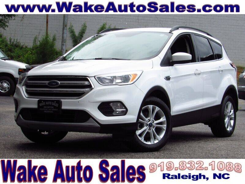 2018 Ford Escape for sale at Wake Auto Sales Inc in Raleigh NC