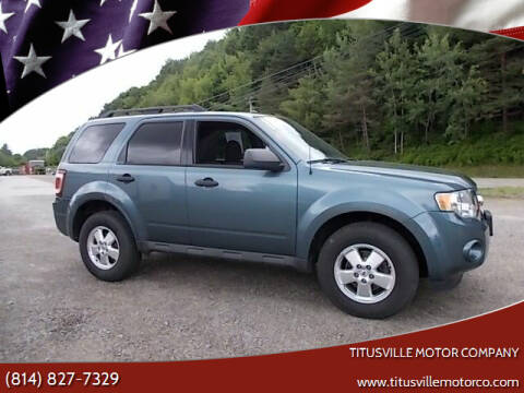 2011 Ford Escape for sale at Titusville Motor Company in Titusville PA