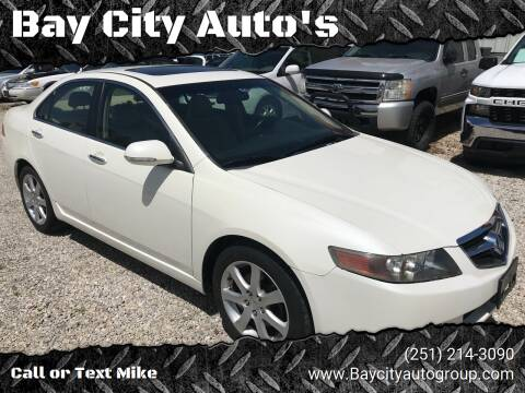 2005 Acura TSX for sale at Bay City Auto's in Mobile AL
