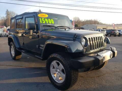2007 Jeep Wrangler Unlimited for sale at Elk Avenue Auto Brokers in Elizabethton TN