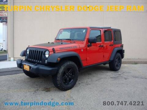 2017 Jeep Wrangler Unlimited for sale at Turpin Dodge Chrysler Jeep Ram in Dubuque IA