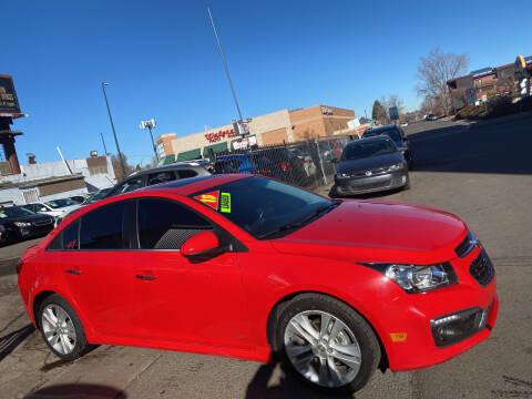 2015 Chevrolet Cruze for sale at Sanaa Auto Sales LLC in Denver CO