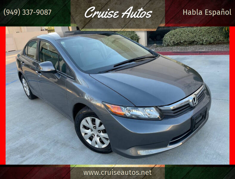 2012 Honda Civic for sale at Cruise Autos in Corona CA