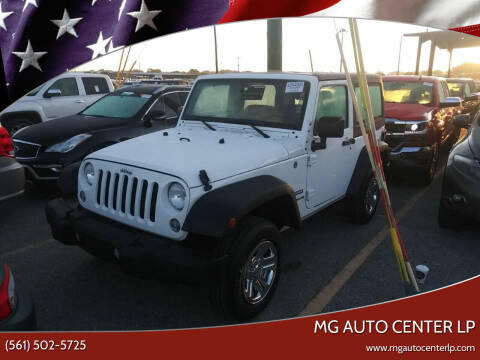 2017 Jeep Wrangler for sale at MG Auto Center LP in Lake Park FL