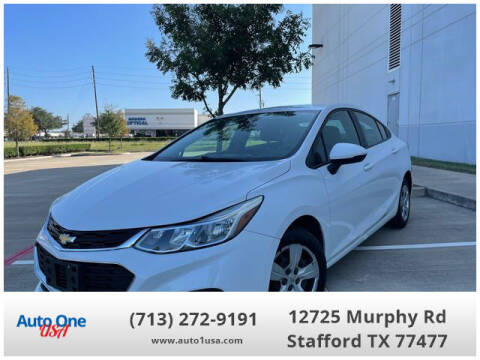 2016 Chevrolet Cruze for sale at Auto One USA in Stafford TX