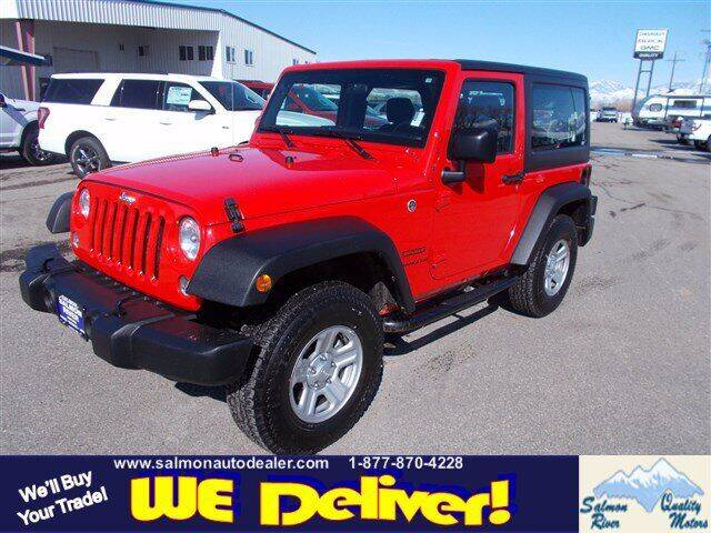 2016 Jeep Wrangler for sale at QUALITY MOTORS in Salmon ID