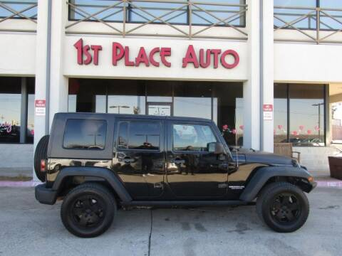 2009 Jeep Wrangler Unlimited for sale at First Place Auto Ctr Inc in Watauga TX