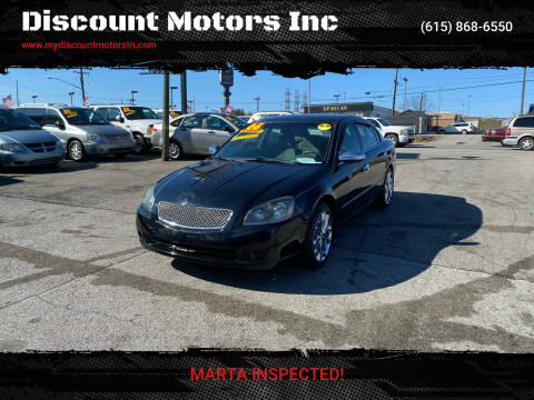 2006 Nissan Altima for sale at Discount Motors Inc in Madison TN