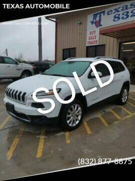2014 Jeep Cherokee for sale at TEXAS AUTOMOBILE in Houston TX
