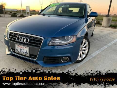2009 Audi A4 for sale at Top Tier Auto Sales in Sacramento CA