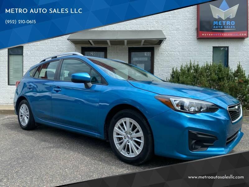 2017 Subaru Impreza for sale at METRO AUTO SALES LLC in Blaine MN