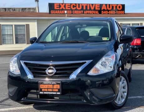 2015 Nissan Versa for sale at Executive Auto in Winchester VA