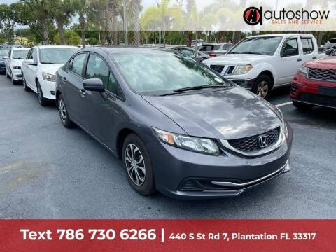 2015 Honda Civic for sale at AUTOSHOW SALES & SERVICE in Plantation FL