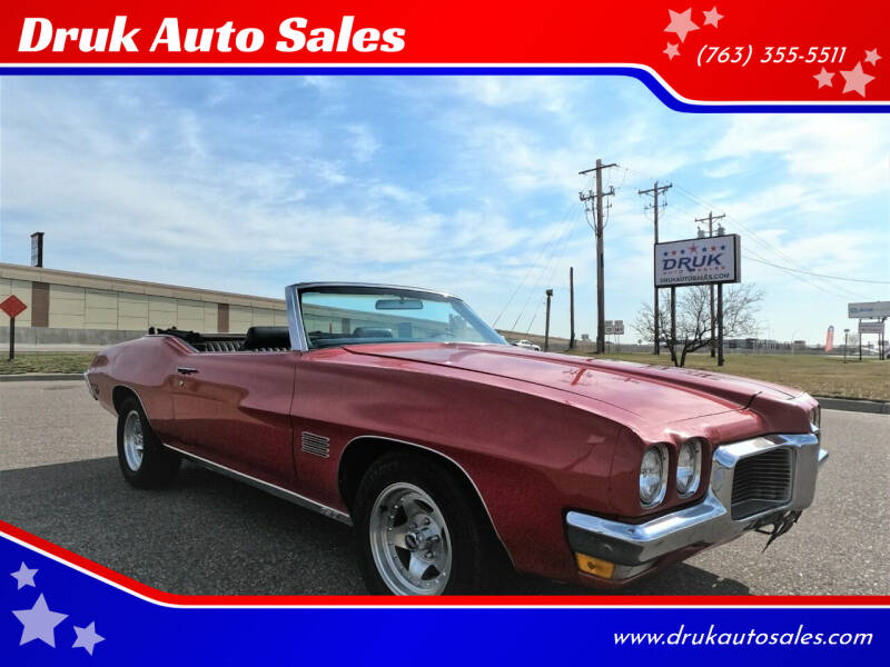 1970 Pontiac Le Mans for sale at Druk Auto Sales in Ramsey MN