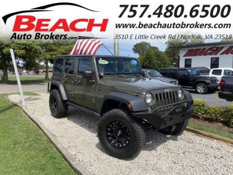 2015 Jeep Wrangler Unlimited for sale at Beach Auto Brokers in Norfolk VA
