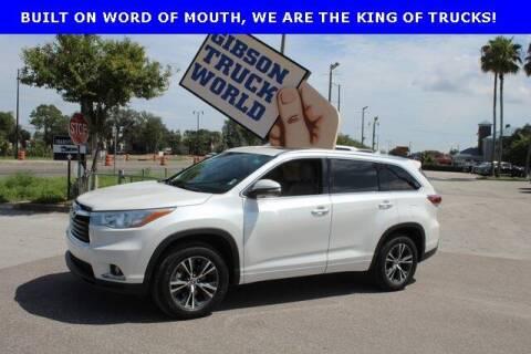2016 Toyota Highlander for sale at Gibson Truck World in Sanford FL