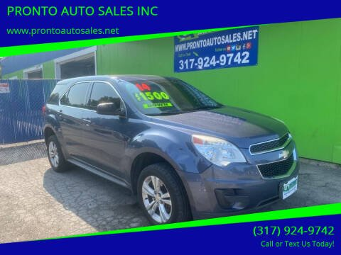 2014 Chevrolet Equinox for sale at PRONTO AUTO SALES INC in Indianapolis IN