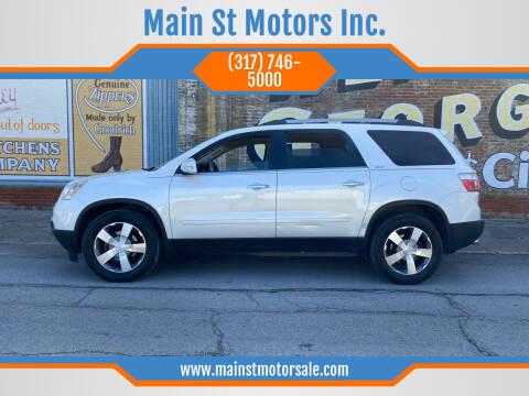 2012 GMC Acadia for sale at Main St Motors Inc. in Sheridan IN