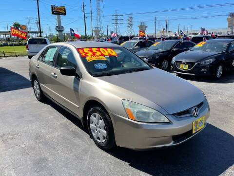 2003 Honda Accord for sale at Texas 1 Auto Finance in Kemah TX