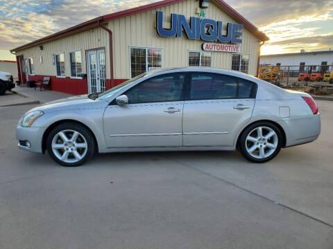 """2006 Nissan Maxima for sale at UNIQUE AUTOMOTIVE """"BE UNIQUE"""" in Garden City KS"""