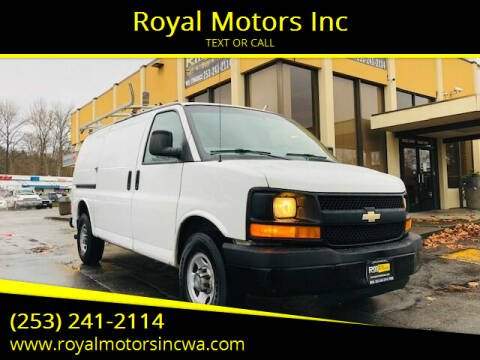 2013 Chevrolet Express Cargo for sale at Royal Motors Inc in Kent WA