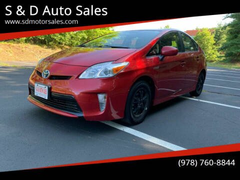 2013 Toyota Prius for sale at S & D Auto Sales in Maynard MA