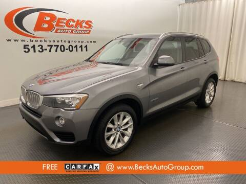 2016 BMW X3 for sale at Becks Auto Group in Mason OH