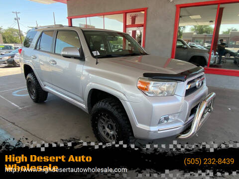 2011 Toyota 4Runner for sale at High Desert Auto Wholesale in Albuquerque NM