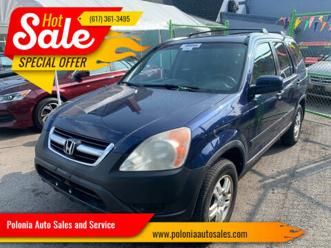 2004 Honda CR-V for sale at Polonia Auto Sales and Service in Hyde Park MA