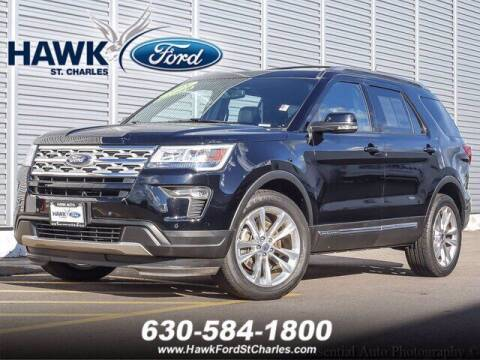 2018 Ford Explorer for sale at Hawk Ford of St. Charles in Saint Charles IL