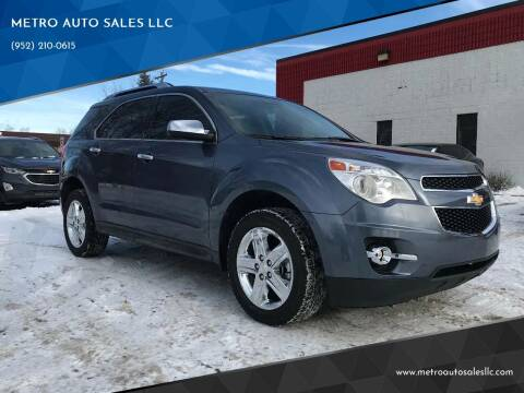 2014 Chevrolet Equinox for sale at METRO AUTO SALES LLC in Blaine MN