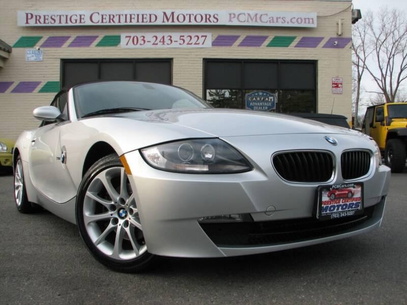 2006 BMW Z4 for sale at Prestige Certified Motors in Falls Church VA