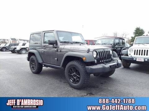 2014 Jeep Wrangler for sale at Jeff D'Ambrosio Auto Group in Downingtown PA