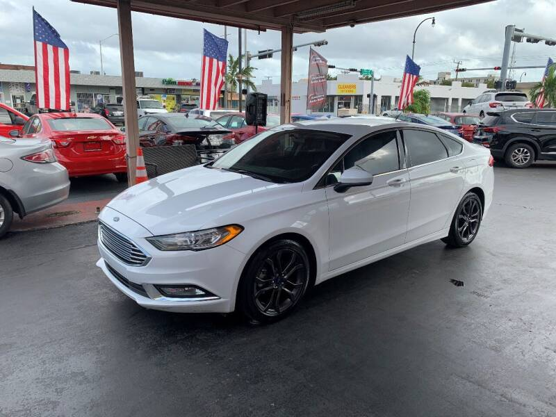 2018 Ford Fusion for sale at American Auto Sales in Hialeah FL