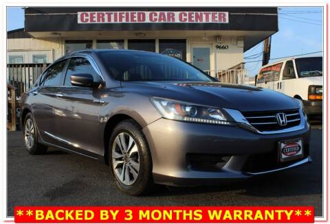 2014 Honda Accord for sale at CERTIFIED CAR CENTER in Fairfax VA
