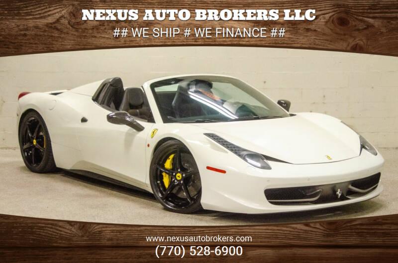 2013 Ferrari 458 Spider for sale at Nexus Auto Brokers LLC in Marietta GA