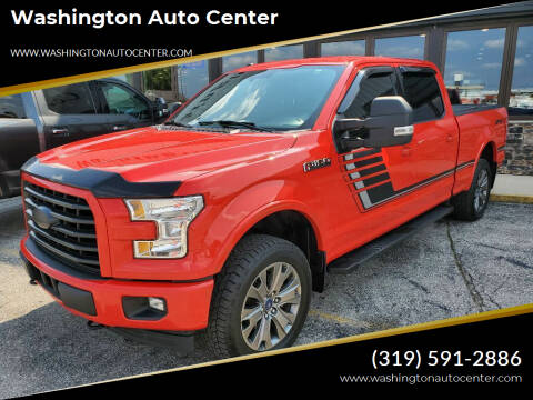 2017 Ford F-150 for sale at Washington Auto Center in Washington IA