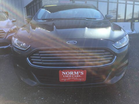 2015 Ford Fusion for sale at NORM'S USED CARS INC in Wiscasset ME