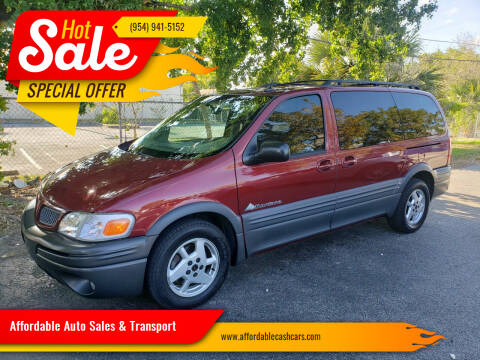 2003 Pontiac Montana for sale at Affordable Auto Sales & Transport in Pompano Beach FL