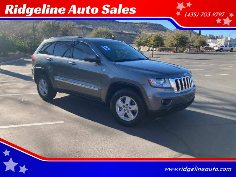 2013 Jeep Grand Cherokee for sale at Ridgeline Auto Sales in Saint George UT