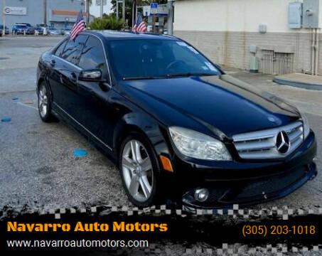 2010 Mercedes-Benz C-Class for sale at Navarro Auto Motors in Hialeah FL