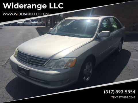 2003 Toyota Avalon for sale at Widerange LLC in Greenwood IN