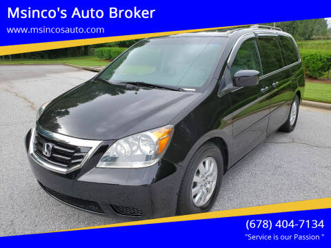 2010 Honda Odyssey for sale at Msinco's Auto Broker in Snellville GA